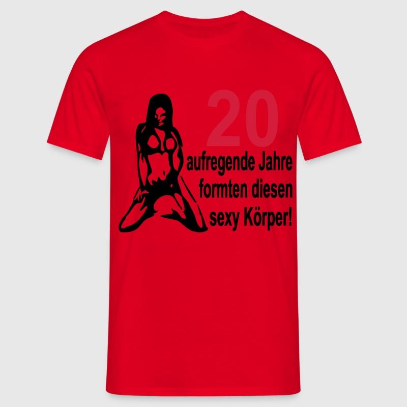 20 geburtstag 20 aufregende jahre formten diesen y k rper nackte frau t shirt spreadshirt. Black Bedroom Furniture Sets. Home Design Ideas