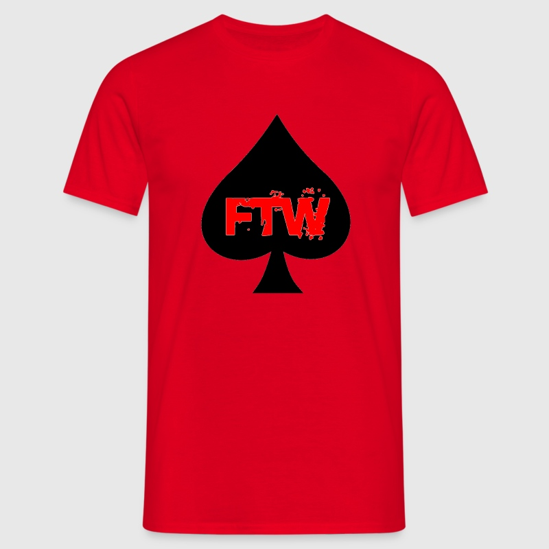 Rouge FTW card T-shirts - T-shirt Homme