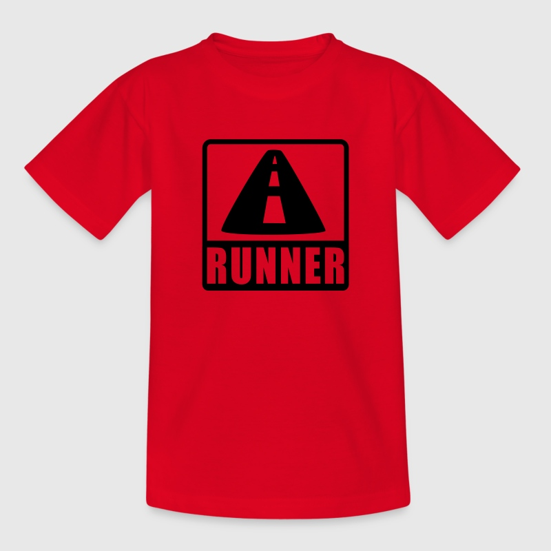 Rot Roadrunner Kinder T-Shirts - Teenager T-Shirt