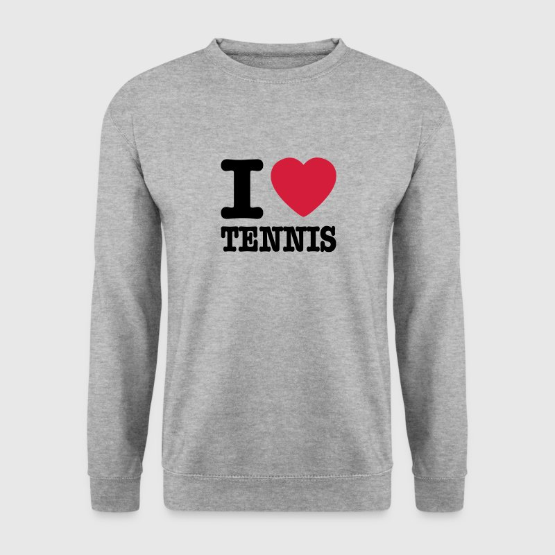 Grijs gespikkeld I love tennis BE NL Sweaters - Mannen sweater