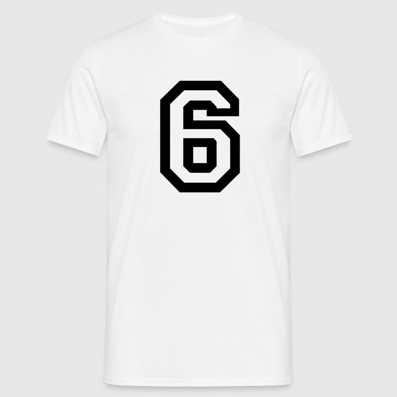 White number - 6 - six Men's T-Shirts - Men's T-Shirt