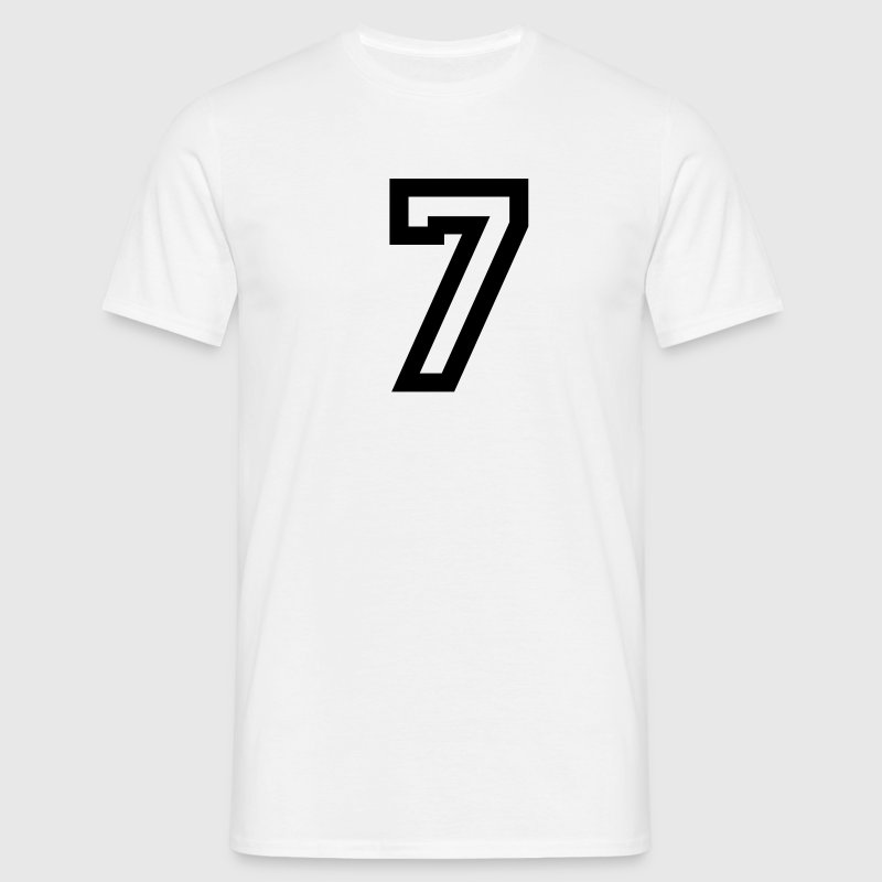 White number - 7 - seven Men's T-Shirts - Men's T-Shirt