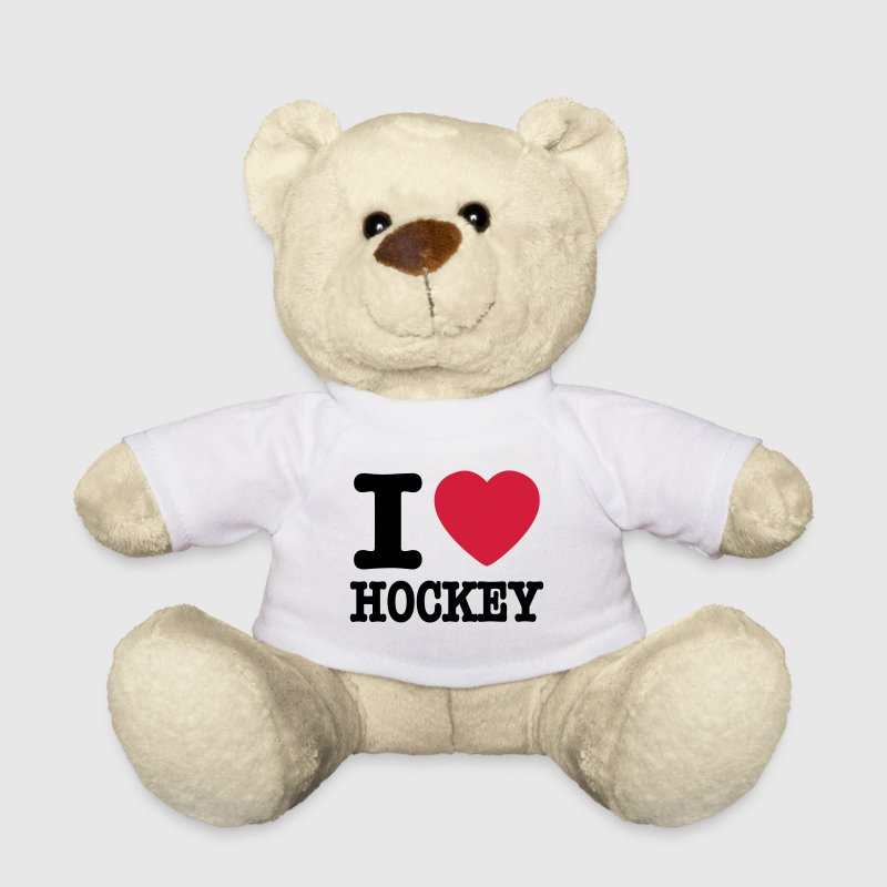 Weiß i love hockey Teddy - Teddy