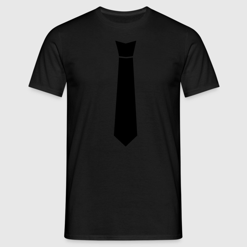 Noir cravate T-shirts - T-shirt Homme