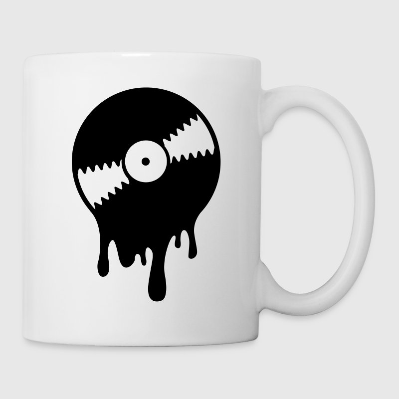 White Melting Vinyl Record (1c, NEU) Mugs  - Mug