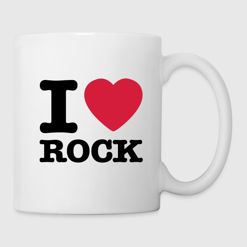 White i love rock / I heart rock Mugs  - Mug