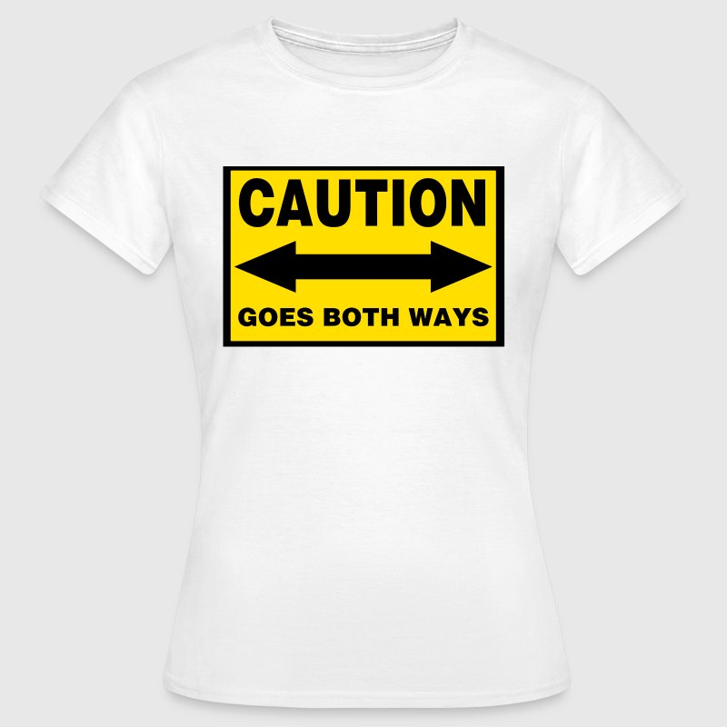 White goes_both_ways Women's T-Shirts - Women's T-Shirt