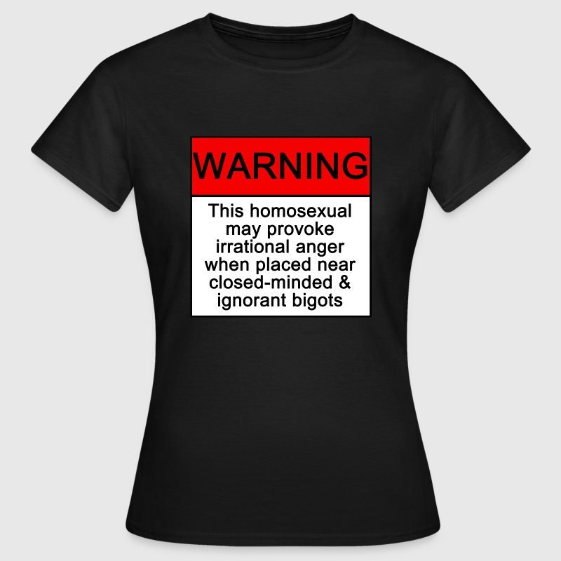 Black warning Women's T-Shirts - Women's T-Shirt