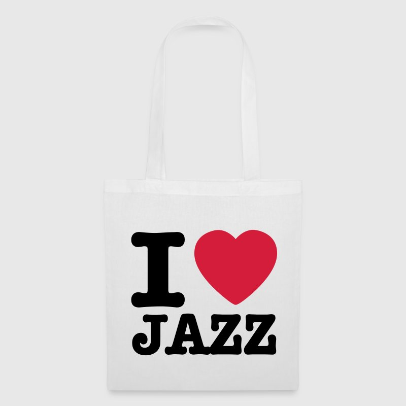 Blanc I love jazz / I heart jazz Sacs - Tote Bag