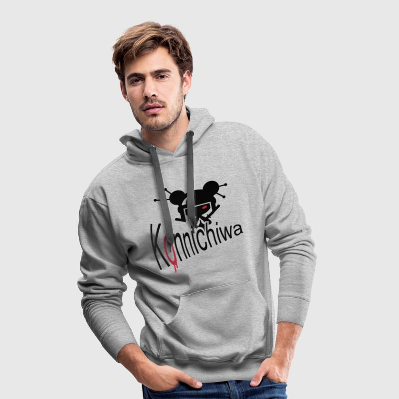 Heather grey konnichiwa Hoodies & Sweatshirts - Men's Premium Hoodie