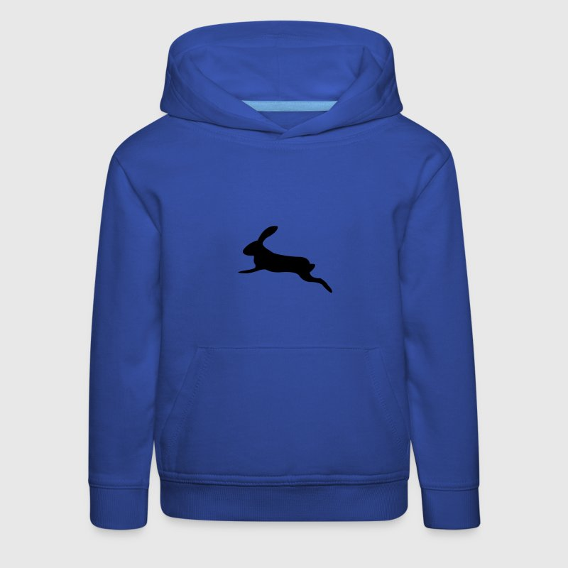 King's blue leaping bunny Kids' Tops - Kids' Premium Hoodie