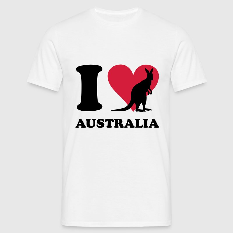 White I love Australia Men's T-Shirts - Men's T-Shirt
