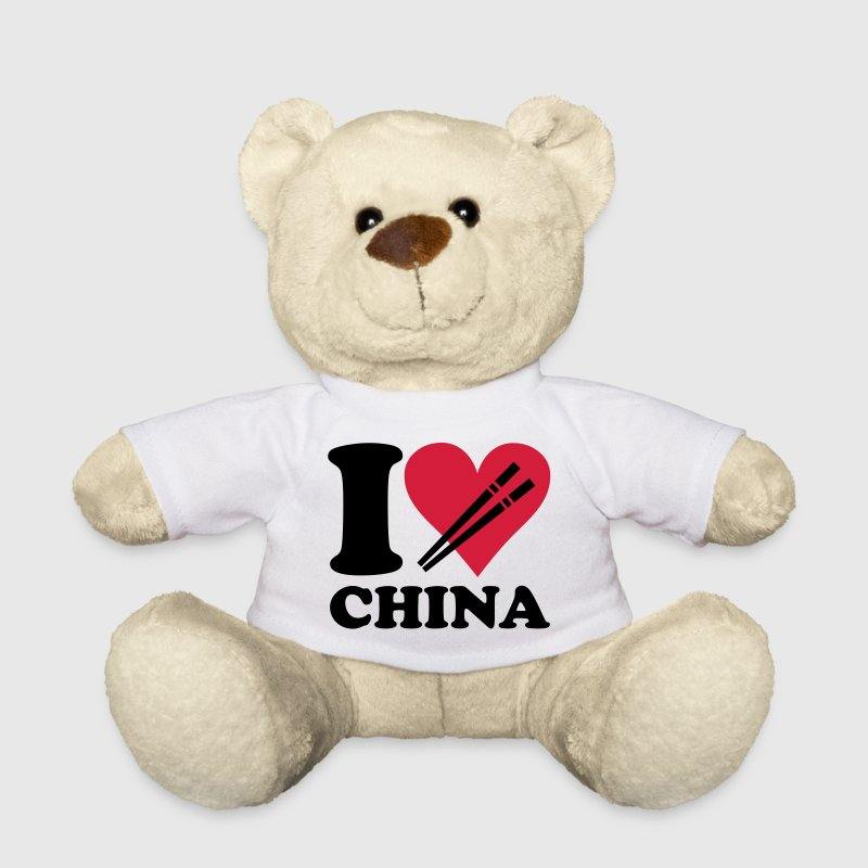 White China - I love China Teddies - Teddy Bear