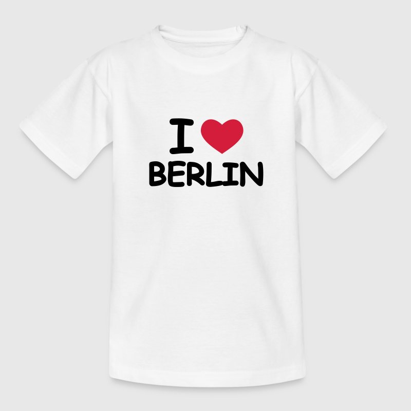 Weiß I Love Berlin Kinder T-Shirts - Teenager T-Shirt