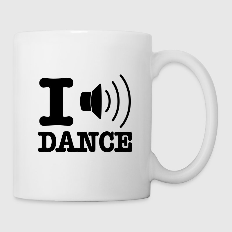 Wit I speaker dance / I love dance Mokken - Mok