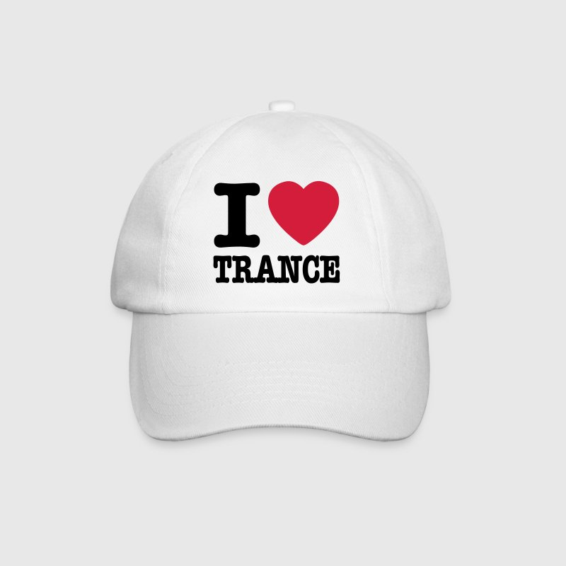 White/white I love trance / I heart trance Caps & Hats - Baseball Cap