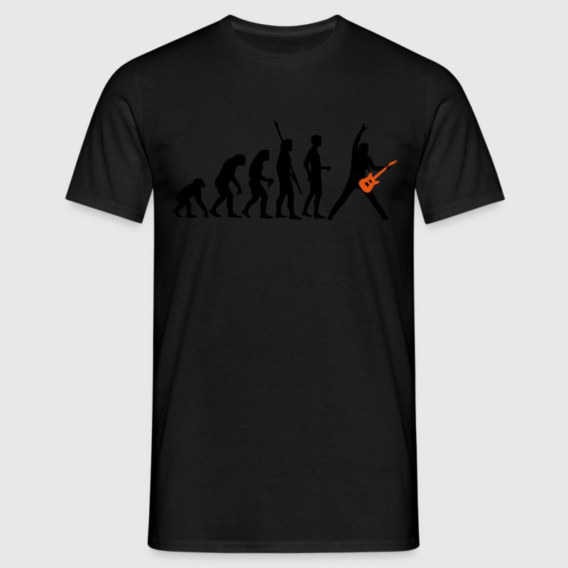 Black evolution_guitar_a_2c Men's T-Shirts - Men's T-Shirt