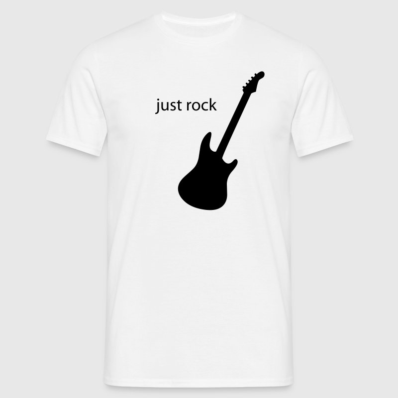 Blanc just rock T-shirts - T-shirt Homme