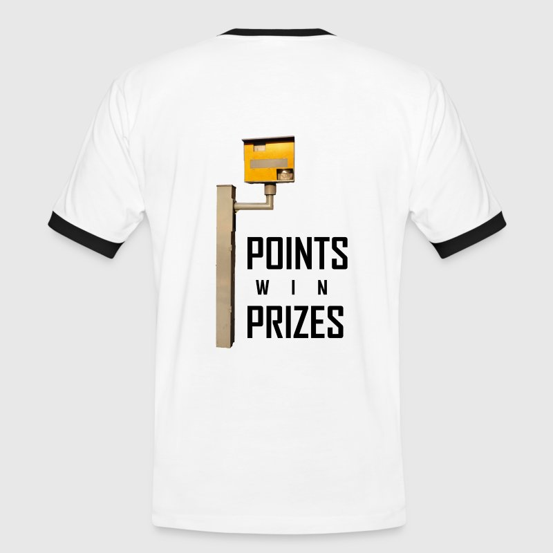 White/black Points Win Prizes Men's T-Shirts - Men's Ringer Shirt