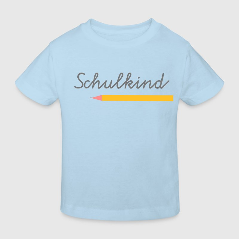 Schulkind Kinder-T-Shirt hellblau - Kinder Bio-T-Shirt