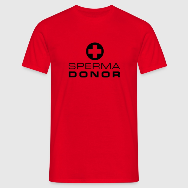 Rood Sperma donor T-shirts - Mannen T-shirt