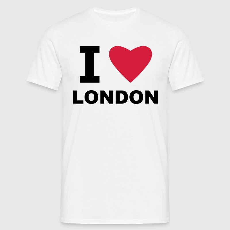 White I love London Men's T-Shirts - Men's T-Shirt