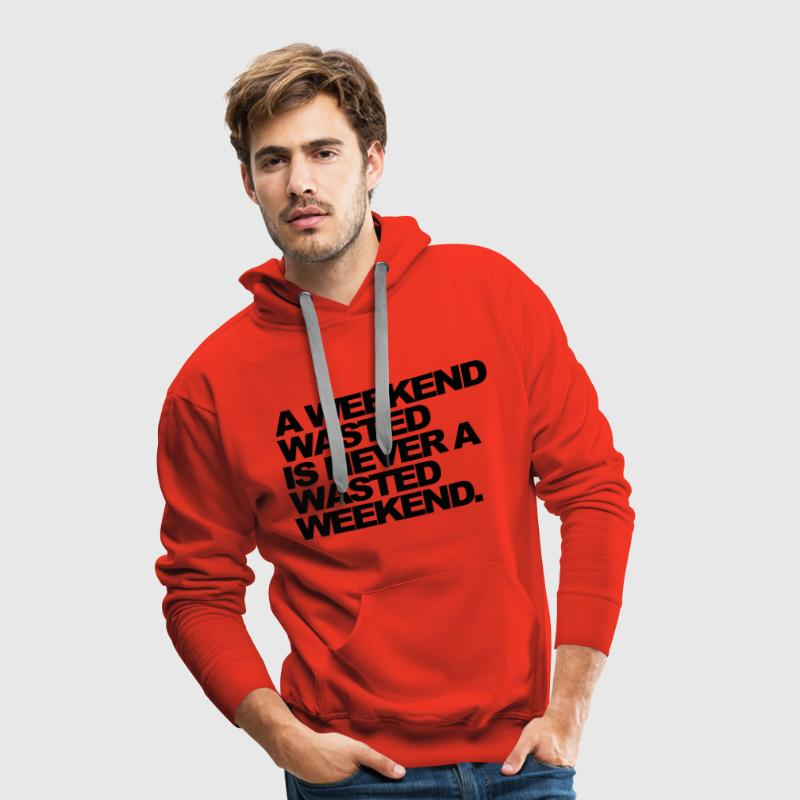 Rouge A Weekend Wasted Sweatshirts - Sweat-shirt à capuche Premium pour hommes