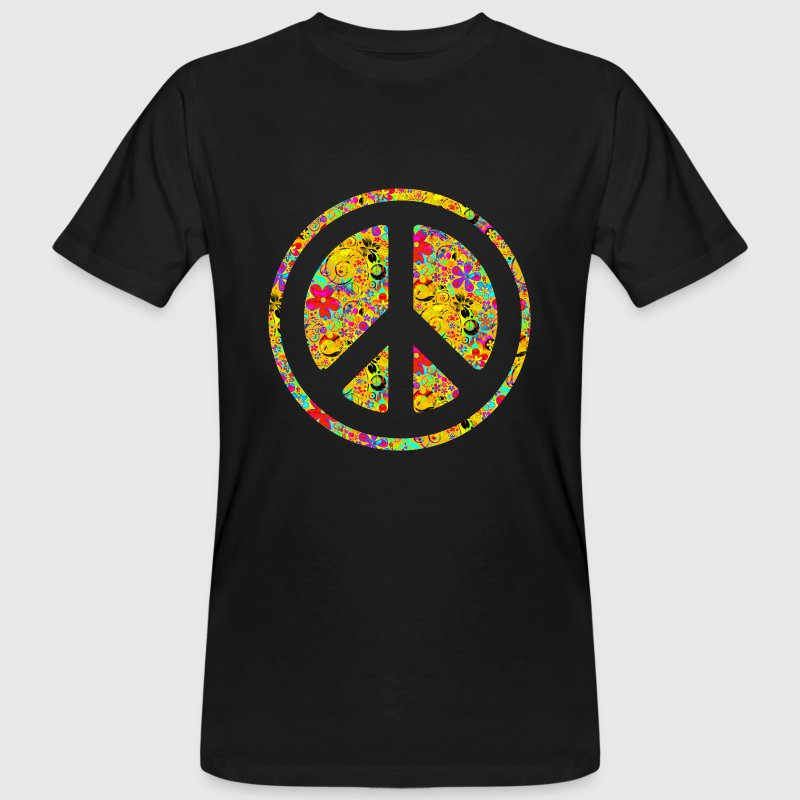 FLOWER POWER PEACE 1 | Männershirt organic - Männer Bio-T-Shirt