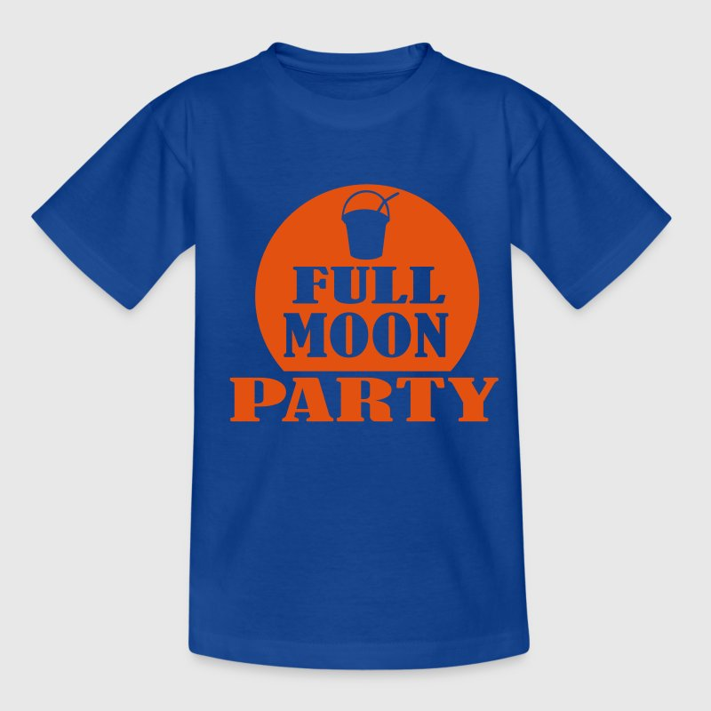Royal blue full moon party Kids' Shirts - Teenage T-shirt