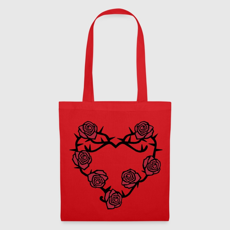 Roses and Thorns Heart. - Tote Bag