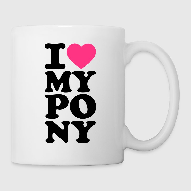 White I love my pony I heart my pony I love my Pony I love my horse Mugs  - Mug