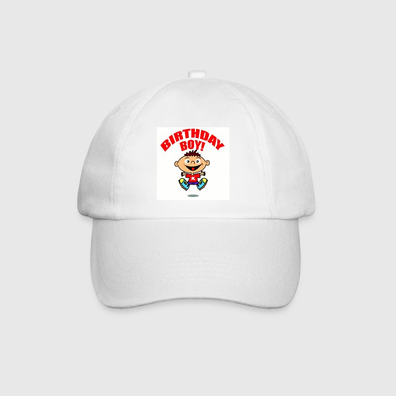 White/white Birthday Boy Caps & Hats - Baseball Cap