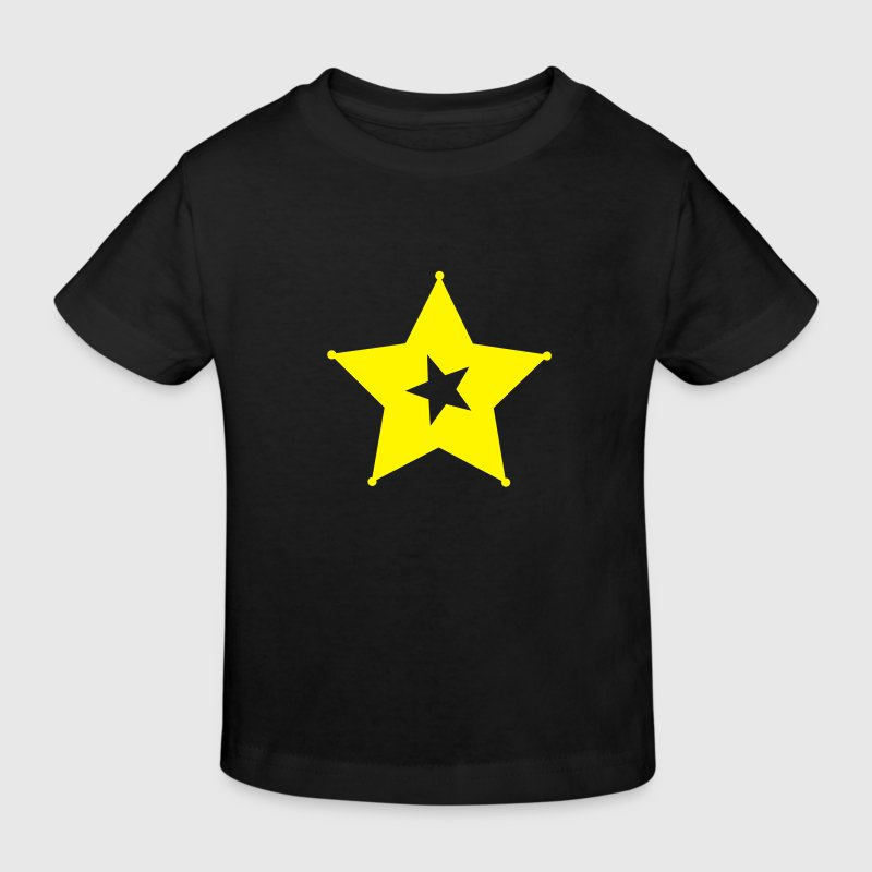Yellow star - Kids' Organic T-shirt