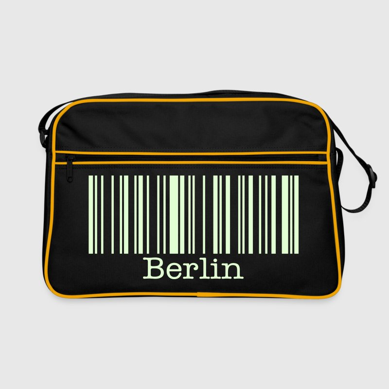 berlin barcode - Retro Bag