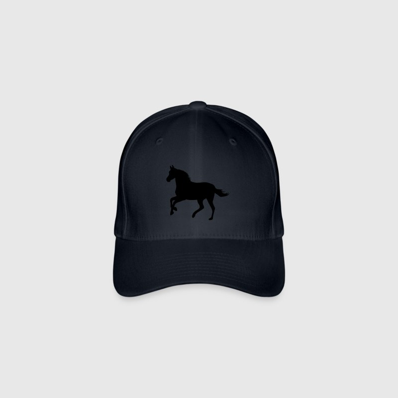 Navy Horse pony riding race horses - foal - small horse  Caps & Hats - Flexfit Baseball Cap