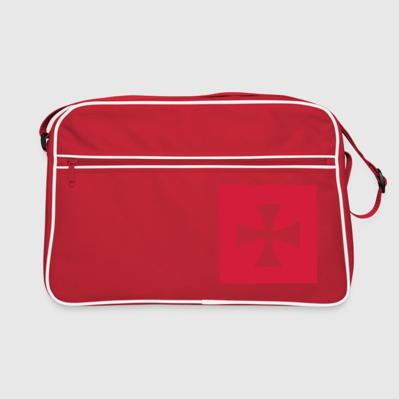 Red/white Cross Malta Knights Bags  - Retro Bag