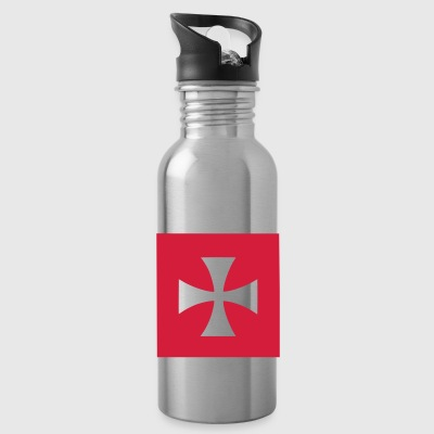 Red/white Cross Malta Knights Bags  - Water Bottle