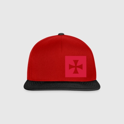 Red/white Cross Malta Knights Bags  - Snapback Cap