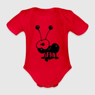 Rot Ameise Kinder Pullover - Baby Bio-Kurzarm-Body
