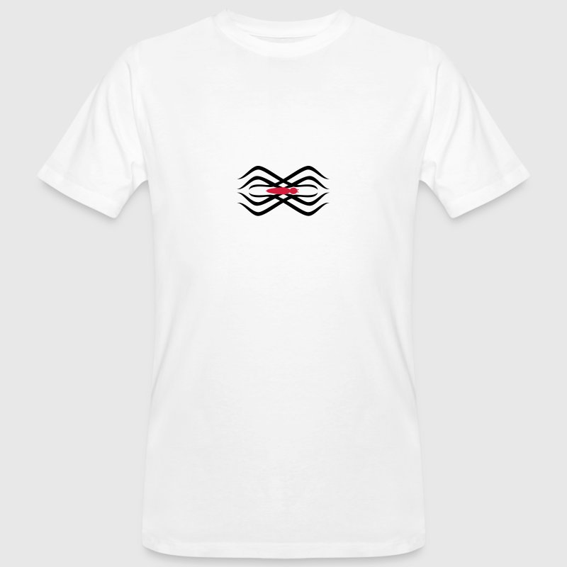 Blanc tatouage tribal araignée / tribal spider tatoo (2c) T-shirts - T-shirt bio Homme