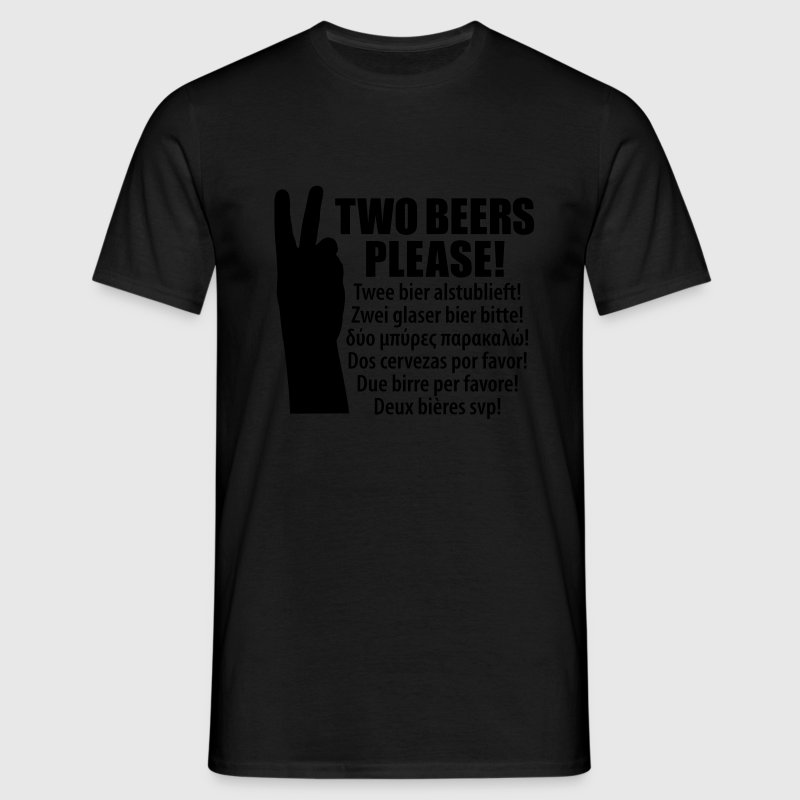 Black Holiday order beer  Men's T-Shirts - Men's T-Shirt