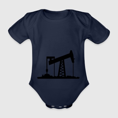 Royal blue Ölförderung / oil rig (1c) Kids' Shirts - Organic Short-sleeved Baby Bodysuit