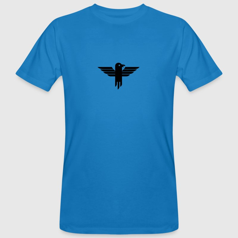 Peacock-blue Adler Symbol / eagle icon (1c) Men's T-Shirts - Men's Organic T-shirt