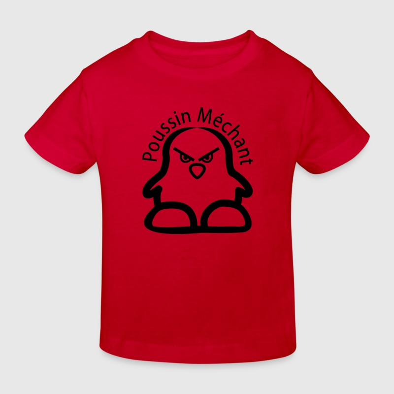 Rouge poussin mechant T-shirts Enfants - T-shirt Bio Enfant