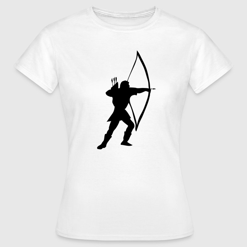 White longbow archer medieval  Women's T-Shirts - Women's T-Shirt