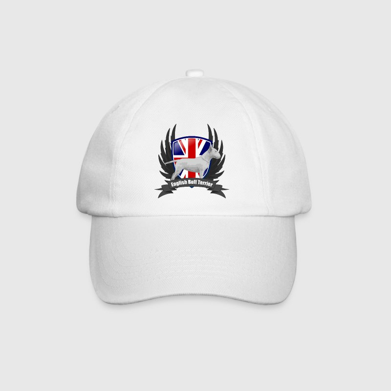 White/white Bullterrier white Union Jack wings Caps & Hats - Baseball Cap