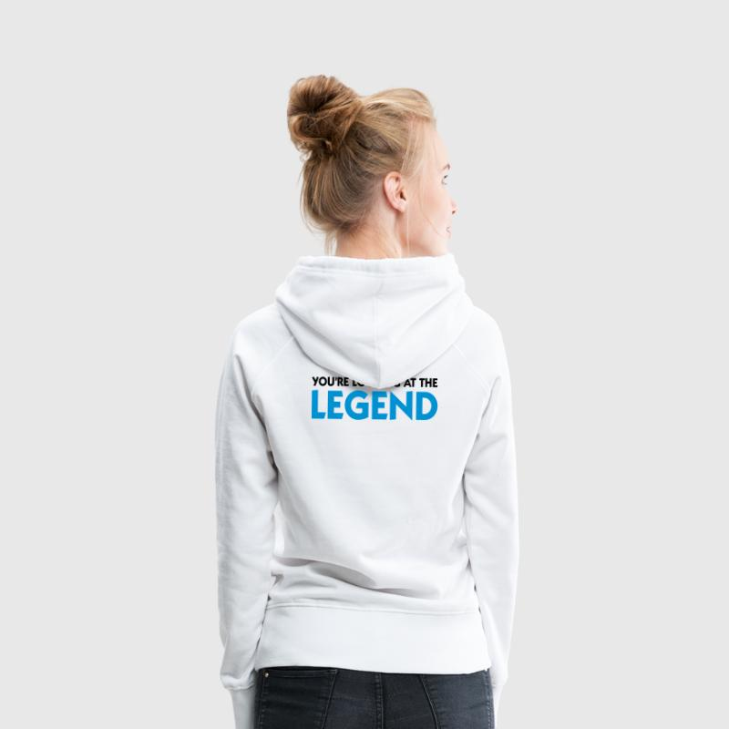 Weiß Looking at the Legend (2c) Pullover - Frauen Premium Hoodie