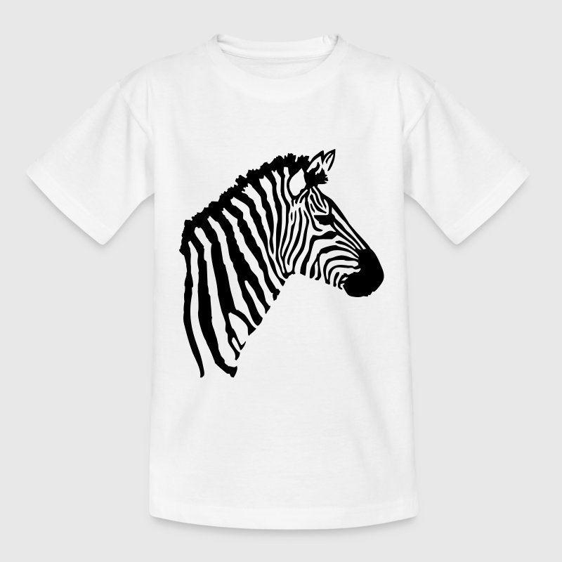 Vit Zebra Barn-T-shirts - Teenager-T-shirt