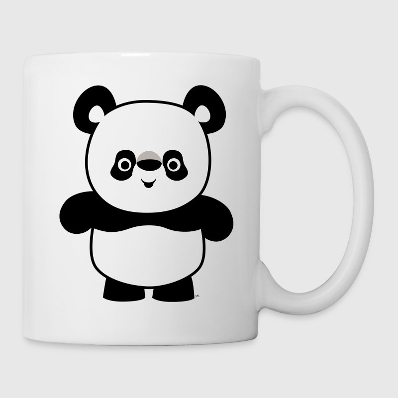 White Cute Happy Cartoon Panda by Cheerful Madness!! Mugs  - Mug