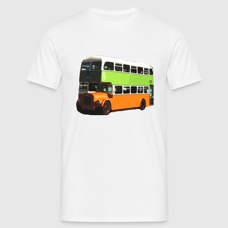 White Glasgow Corporation Bus Men's T-Shirts - Men's T-Shirt